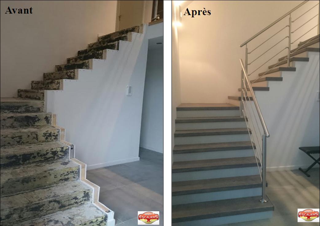 Renovation D Escaliers Bois Pierre Metal Un Escalier