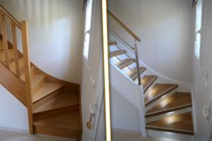 renovation escaliers avant apres rnov escalier bois bruit craquement grincement