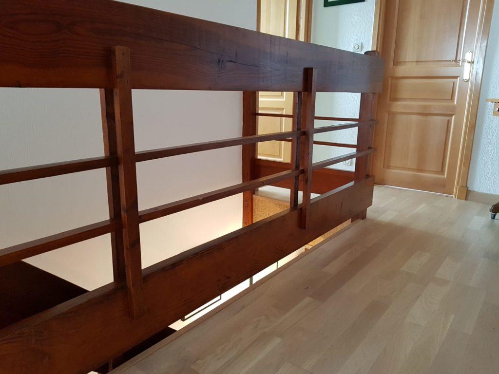 renovation escalier bois typique ancien region havre par habillage en normandie 04 garde corps