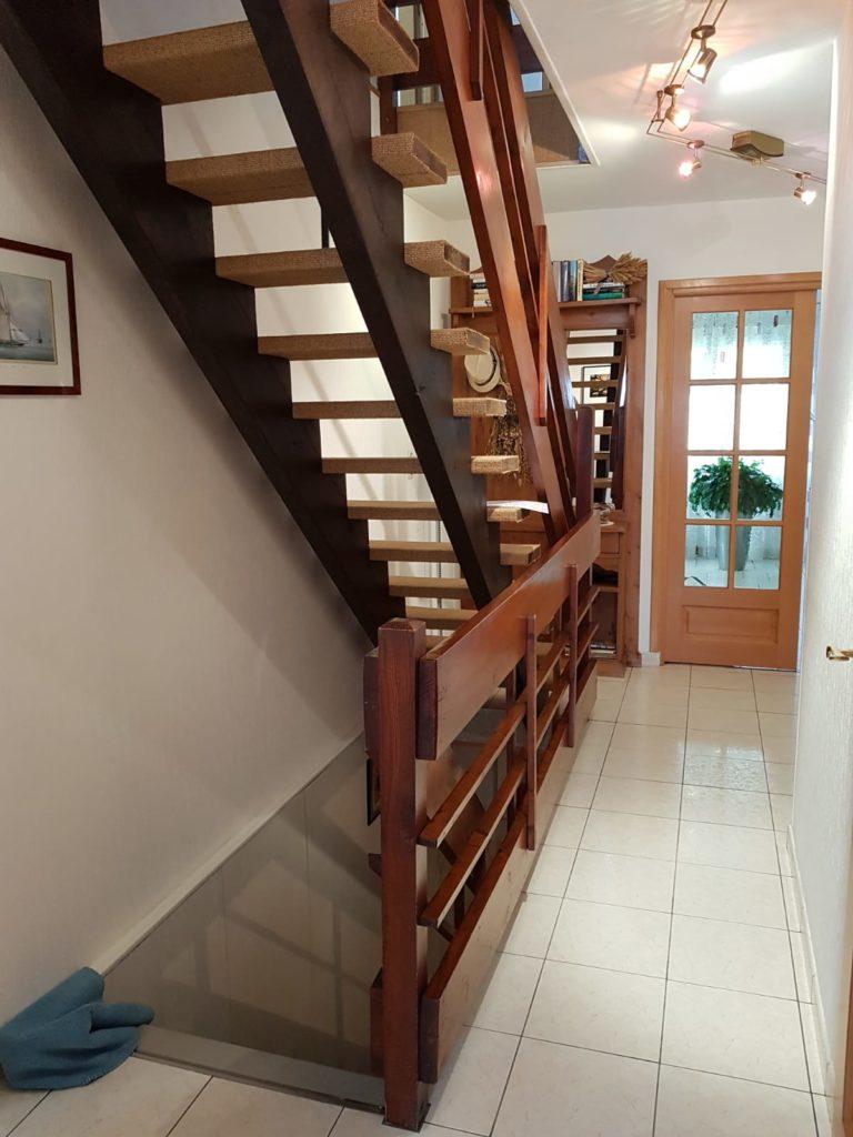 renovation escalier bois typique ancien region havre par habillage en normandie 12