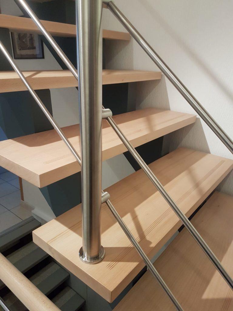 renovation escalier bois typique ancien region havre par habillage en normandie 24 garde corps inox